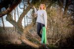 Mata do jogi zielona