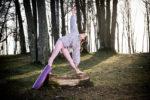 Mata do jogi fioletowa